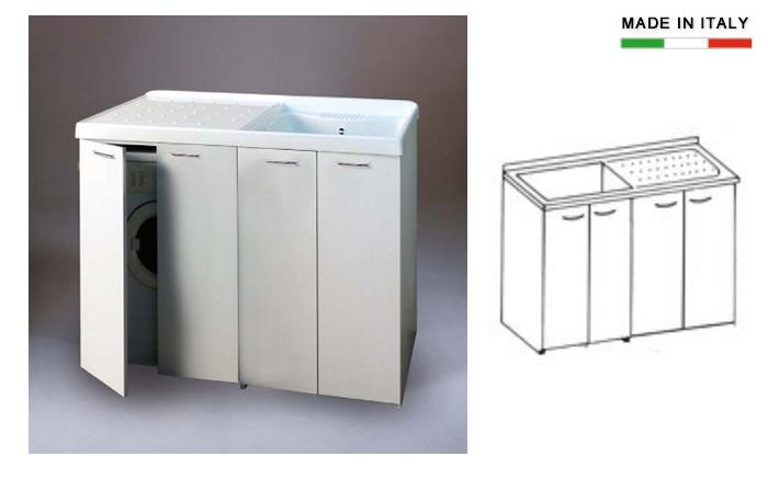 Suchen Sie Lavatoio con vasca in metalcrilato per lavatrice con ...