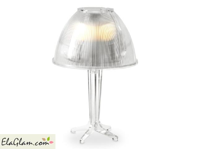 Lampada da comodino in plexiglass Vesta h9649