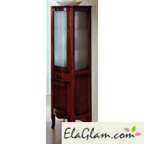 Column Classic wooden Badezimmer mit Glastür h11305