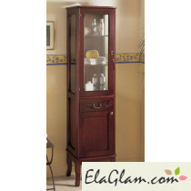 Column Classic wooden Badezimmer mit Glastür h11304