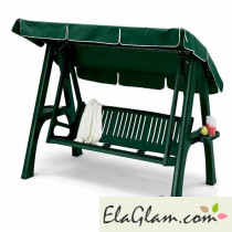 Swing-3-Sitzer abnehmbare Harz und Alu-Halter mit h7467 grün