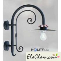 Lampada a parete con riflettore in alluminio h16825