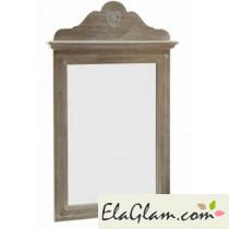 Specchio con cornice in mdf,pauwlonia e abete h13701