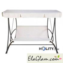 Hollywoodschaukel 3-Sitzer-Stahl h12311