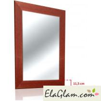 Specchiera classica con cornice in legno h11817