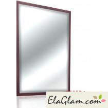 Specchio in arte povera con cornice in legno h11819